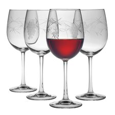 All Purpose Wine Glass 16 oz. Hand Cut Sonoma Pattern (Set of 4)