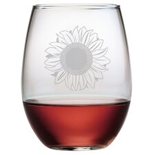 Sunflower Stemless Wine Glass (Set of 4)
