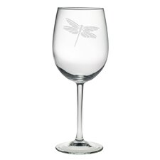 <strong>Susquehanna Glass</strong> Dragonfly All Purpose Wine Glass (Set of 4)