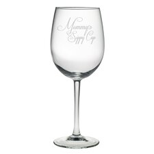 <strong>Susquehanna Glass</strong> Mommy's Sippy Cup All Purpose Wine Glass (Set of 4)