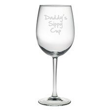 Daddy's Sippy Cup All Purpose Wine Glass (Set of 4)