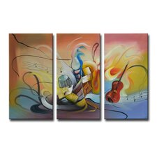Radiance Neva 3 Piece Original Painting on Canvas Set (Set of 3)