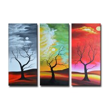 Radiance Alyxia 3 Piece Original Painting on Canvas Set (Set of 3)