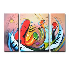 Radiance Tasia 3 Piece Original Painting on Canvas Set (Set of 3)
