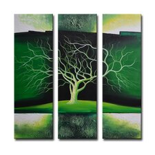 Radiance Nolana 3 Piece Original Painting on Canvas Set (Set of 3)