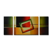 Radiance Kiana 3 Piece Original Painting on Canvas Set (Set of 3)