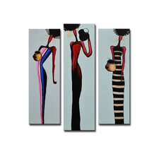 Radiance Coretta Canvas Art (Set of 3)