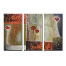 Radiance Arena 3 Piece Original Painting on Canvas Set (Set of 3)