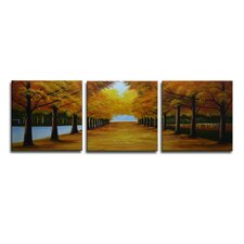 Radiance Norina 3 Piece Original Painting on Canvas Set (Set of 3)