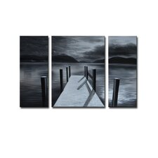 Radiance Kady 3 Piece Original Painting on Canvas Set (Set of 3)