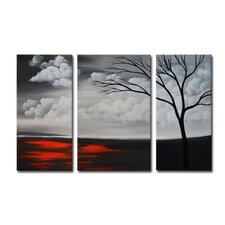 Radiance Andira 3 Piece Original Painting on Canvas Set (Set of 3)