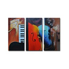 Radiance Oneida 3 Piece Original Painting on Canvas Set (Set of 3)