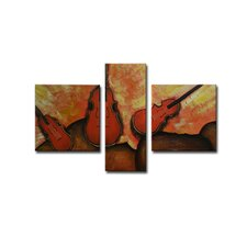 Radiance Derica 3 Piece Original Painting on Canvas Set (Set of 3)