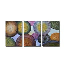 Radiance Essence 3 Piece Original Painting on Canvas Set (Set of 3)