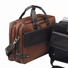 The Trans Continental Leather Laptop Briefcase