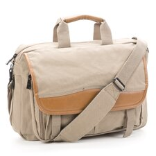 Canyon Expandable Zipper Canvas Briefcase