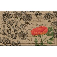Naturelles Vintage Floral Peony Doormat