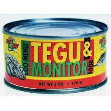 Tegu Monitor Food in Cans/Wet