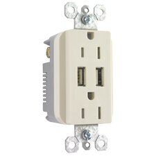 USB Chargers with AC Outlet
