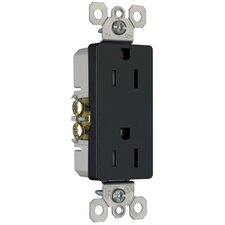 15Amp Decorator Outlet in Black