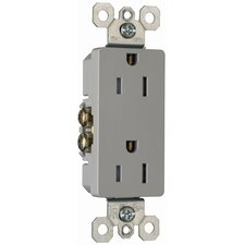 15Amp Decorator Outlet in Gray