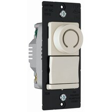 TradeMaster 700W Decorator Rotary Single Pole/Three Way Dimmer in Light Almond