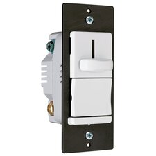 TradeMaster 600W Decorator Single Pole Slide Dimmer Preset in White