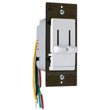 TradeMaster Decorator Single Pole Slide Dimmer and Three Speed Fan Control DeHummer in White