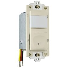 25-500W Occupancy Decorator Sensor Single Pole in Ivory