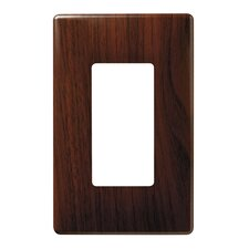 Single Gang Decorator Screwless Wall Plate in Metal walnut