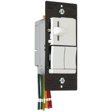 TradeMaster Single Pole/Three Way Preset Slide Dimmer and Single Pole/Three Way Switch in Black