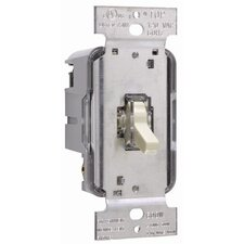 TradeMaster 600W Lighted Single Pole Toggle Dimmer in Ivory