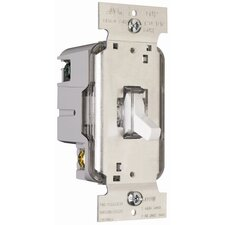 TradeMaster 600W Lighted Single Pole Toggle Dimmer in White