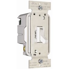 TradeMaster 600W Single Pole Toggle Dimmer in White