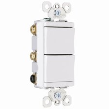 TradeMaster 15A 120V Decorator One Single Pole and One Three Way Switch in White
