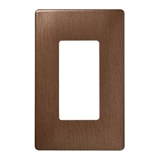 """3.1"""" Single Gang Decorator Screwless Wall Plate in Brushed copper"""