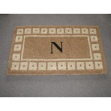 Imperial Colonial Inlaid Monogram Golden Doormat