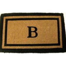 Imperial Double Border Monogram Golden Doormat