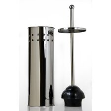 Stainless Steel T all Toilet Bowl Plunger with Lid