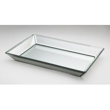 Crystal Mirror Beveled Glass Tray