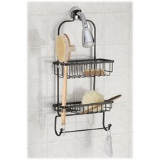 Jumbo Shower Caddy with Rectangular Basket