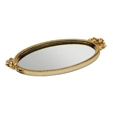 Antique Rose Mirror Tray