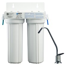 Two Stage LCV Under Counter Water Filtration System
