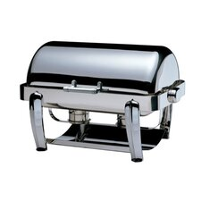 """Save on Additional Items""-Odin Oblong Roll Top Chafing Dish with Chrome Plated Legs and Spoon Holder"