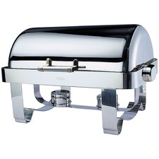 """Save on Additional Items""-Odin Oblong Roll Top Chafing Dish with Stainless Steel Legs and Spoon Holder"