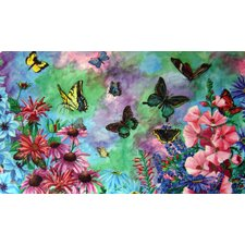 <strong>Custom Printed Rugs</strong> Butterflies Doormat