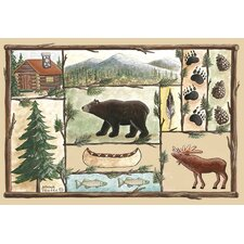 <strong>Custom Printed Rugs</strong> Home Accents Cabin Novelty Rug