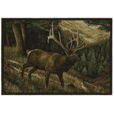 Wildlife Elk Roaming Novelty Rug