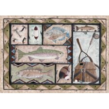 Wildlife Fishing Novelty Rug