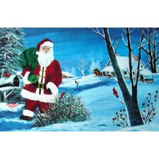 <strong>Custom Printed Rugs</strong> Seasonal Holiday Santa Doormat